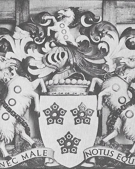An archive picture of the Southwell Arms coat of arms which featured in Riddington Young's book.