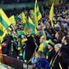 The Norwich fans before the Premier League match at Carrow Road, Norwich Picture by Paul Chesterton