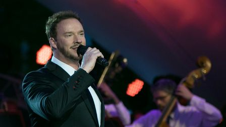 Russell Watson in concert, his favourite place to be