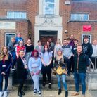 Professional boxer Shannon Courtenay paid a visit to the North Herts Education Support Centre in Bancroft, Hitchin