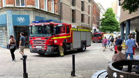 Fire crews were called after an alarm went off at The Ivy restaurant in Norwich.