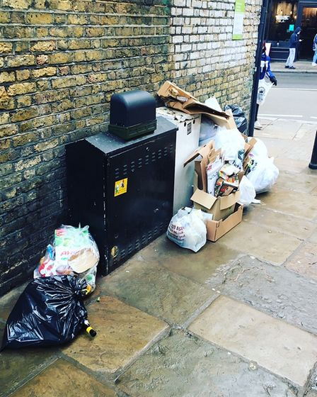 Campaigners are fed up of facing mounds of waste in the heart of Hampstead