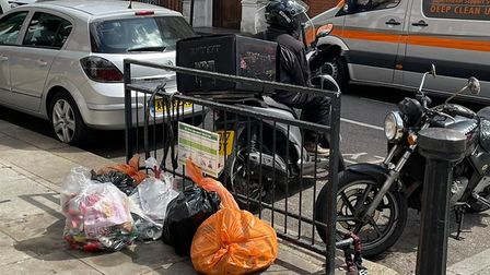 Abandoned waste in Fawley Road off West End Lane