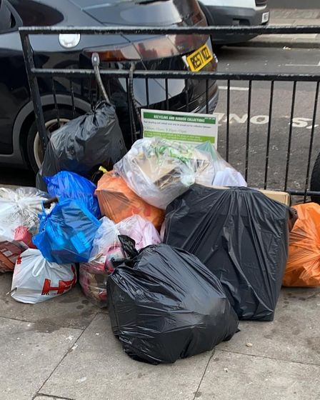 Janet Grauberg and Jill Henry were among those to photograph 278 instances of flytipping in West Hampstead