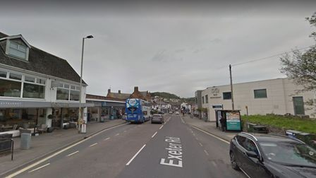 The incident occurred by a bus stop on Exeter Road, opposite Squires fish and chips and close to the SQ Bar and Restaurant