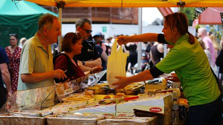 Visitors enjoy the Letchworth Food and Drink Festival. Picture: DANNY LOO