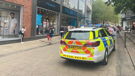 Police were called to Hay Hill in Norwich at lunchtime on Thursday.