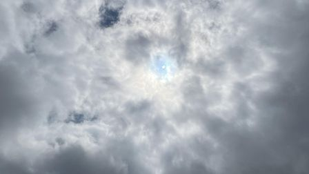 Patrick Powers' photo of the partial solar eclipse.