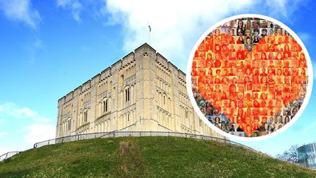 Hundreds of local faces to light up Norwich Castle to mark refugee week