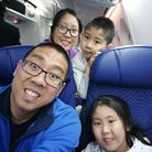 Kaleigh Lau, six, bottom right, with mum and dad Yang and Scott and her younger brother, on the plan