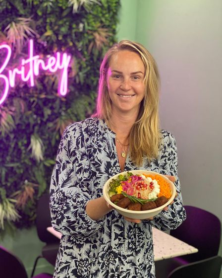 Johanna Zissmann and the Rainbow Salad in support of Pride Month.