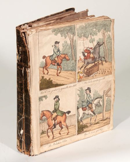 The Mason Family scrapbook containing the Constable artworks