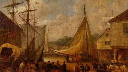 The Common Quay, Ipswich, 1820, oil on canvas by George Frost 1744-1821