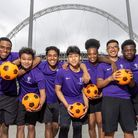 Children from ARK Elvin Academy.Launch of the Olympic Steps at Wembley Park in London. The Olympic