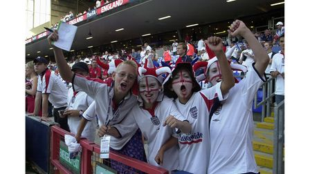 Youngsters at the England v Croatia match in 2003