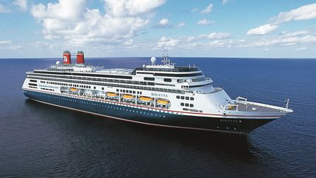 An artist's impression of the Fred. Olsen livery on its new Bolette cruise ship