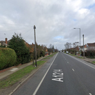 A cyclist has been taken to hospital after a collision involving a car on Valley Road in Ipswich