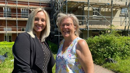 Sonja Chilvers and Louise Jordan-Hall, of Norfolk and Waveney Mind