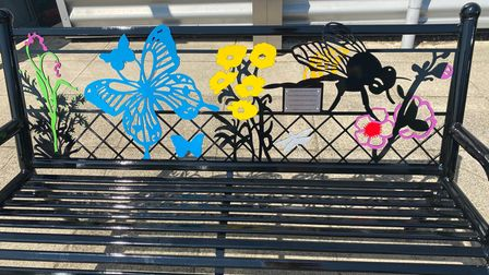 Colourful benches displayed in St Neots