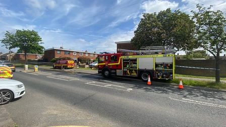 The scene at Cherwell Way this morning.