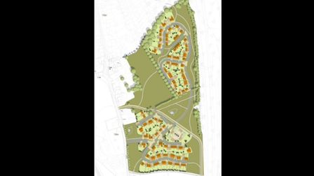 An illustrative layout for what Suffolk County Council's 114-home Bramford development could look like