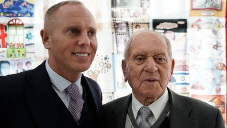Arek Hersh, one of the young Holocaust survivors known as 'The Boys' was joined by Robert Rinder