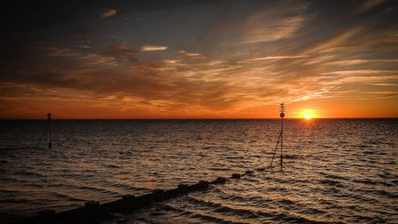 A sunset across The Wash at Hunstanton Picture: Chris Bishop