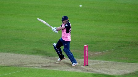 Middlesex captain Eoin Morgan bats during the Vitality Blast T20