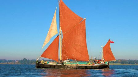 Historic sailing barge Victor, which has just reopened for its summer season, including cream tea cruises and supper cruises