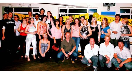 Stoke High School's class of 1994 at their reunion at the Curve Bar, Ipswich in 2004