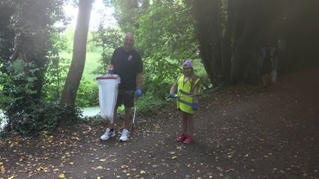The Sudbury litter-pick for the Suffolk Clean Sweep campaign was organised by the town's community wardens