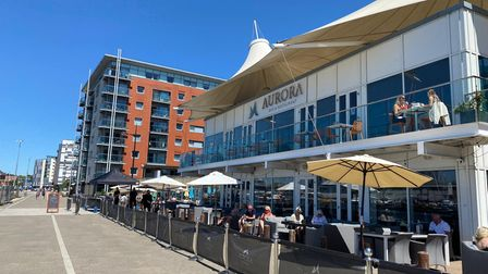 The buildings are on Ipswich Waterfront, next to popular bar and restaurant Aurora