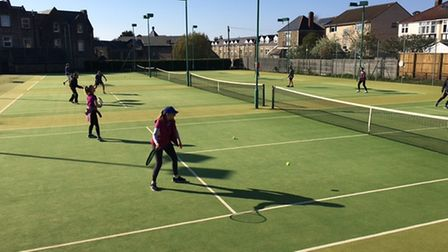 Action from Clevedon Lawn Tennis Club