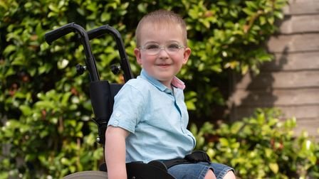 Cooper Leatherby, aged 4, suffers from spina bifida and dreams of owning a specialist trike. Picture