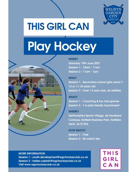 WGC Hockey Club flyer for This Girl Can