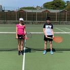 Daisy and Alex won Road to Wimbledon competitions at North Somerset Tennis Academy