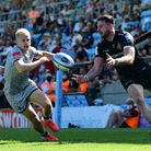 Alex Cuthbert of Exeter Chiefs during the Gallagher Premiership Match between Exeter Chiefs and Sale