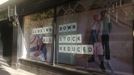 The signs appeared last week on the Jack Wills London Street store