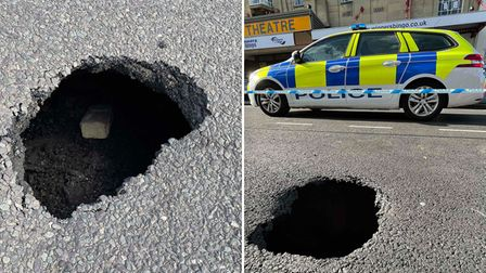 Two suspected sink holes were discovered in Wisbech on Sunday, June 13.