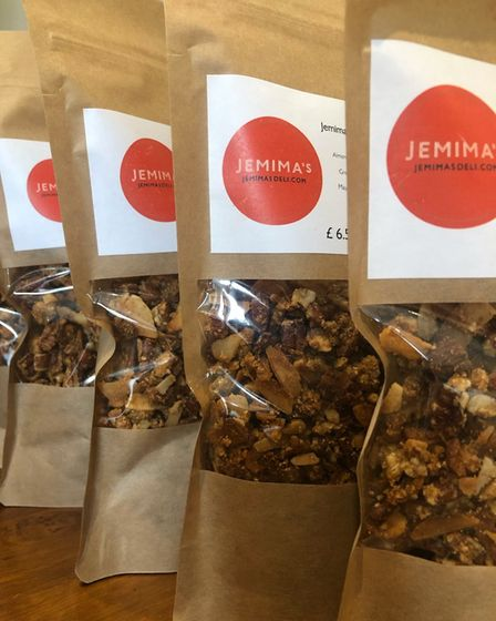 Granola in its packaging