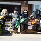 """""""Kiss"""" at Wheathampstead Scarecrow Trail."""