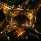 Picture by Mike Page. Picture shows: St Stephens roundabout from the air at night