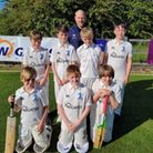One of the junior teams at North Mymms Cricket Club