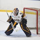 Raiders netminder Brad Windebank in action against Sheffield Steeldogs during the Spring Cup