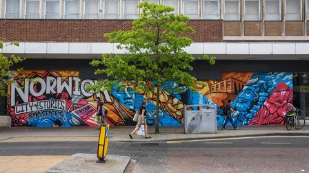 A new mural on St Stephens Street in Norwich. Picture: Danielle Booden