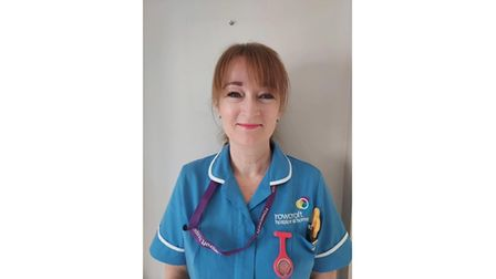 Hospice assistant in uniform