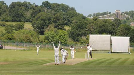Action from Clevedon's win at Bedminster in the WEPL