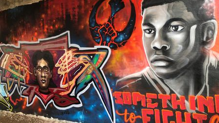 A Star Wars-themed mural supporting the Black Lives Matter movement has appeared on Magdalen Street