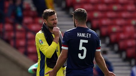 Grant Hanley and former Norwich City keeper, David Marshall, wereon the losing side in Scotland's Euro2020 opener