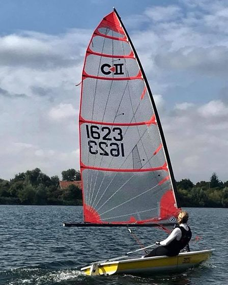 Pippa Hales is one of the Hunts Sailing Club's Women on Water group